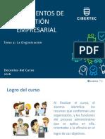 Tema 4 La Organización Fundament