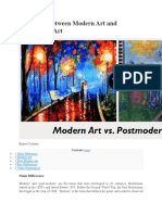 Difference Between Modern Art and Postmodern Art