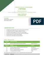 ESMO Preceptorship Lymphoma Lugano 2017 Programme