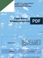 Taller Breve Alfabetización Inicial