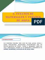 2.- Fuentes de Materiales y Agua