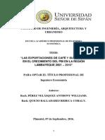 """· """"Las Exportaciones de Pisco y Su Impacto en El Crecimiento Del Pbi en La Región 2001 – 2013 o Puede Ser de Pisco en La Region Ica o Arequipa."""