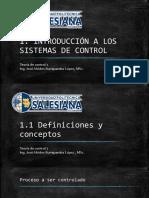 1.1 Definiciones y Conceptos - 1.2 Sistemas Lazo Abierto y Cerrado (1)