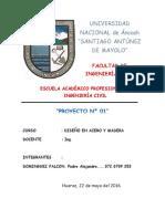 Primer Informe de Laboratorio de Acero y Madera