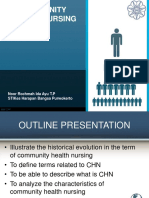 History of Community Health Nursing