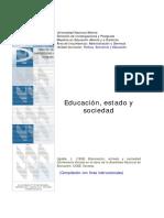 Sociedad, Estado y Educación