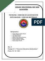 Proyectos Educativos Ambientales