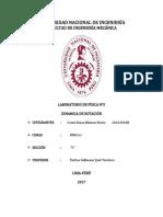 INFORME  N°5 - DINAMICA DE ROTACIÓN - FISICA I