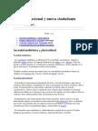 Proyecto Nacional y Nueva Ciudadanía (Sociedad Multietnica y Pluricultural)