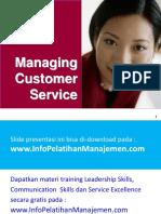 Sampel Managing Customer Service