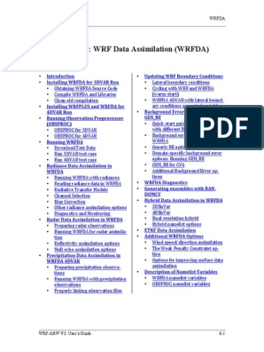 WRFDA Users Guide | Library (Computing) | Computer File