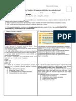 Evaluación 1º El Progreso Indefinido y Sus Contradicciones