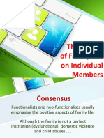 8. the Impact of Family Life on Individual Members