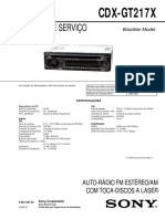 Manual Sony CDX-GT217X Ver. 1.1