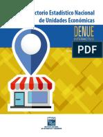 Directorio Estadístico Nacional de Unidades Económicas. DENUE Interactivo 032017. Documento Metodológico