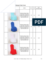 Color Chart of Wedding Banquet Chair Cover