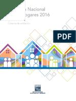 Encuesta Nacional de Los Hogares 2016. ENH. Criterios de Validación
