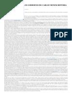 Breve Resumen de Los Gobiernos de Carlos Menem Historia Argentina