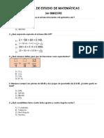 Guia de Estudio de Matemáticas 3er Bimestre Primaria 5to Grado