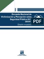 Encuesta Nacional de Victimización y Percepción Sobre Seguridad Pública 2017. ENVIPE. Diseño Muestral