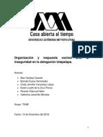 Organización y Respuesta Vecinal Ante La Inseguridad en La Delegación Iztapalapa
