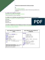Cuestionario de Administración de Base de Datos
