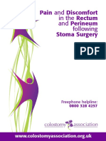 Pain and Discomfort in the Rectum and Perineum Following Stoma Surgery