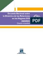Encuesta Nacional Sobre La Dinámica de Las Relaciones en Los Hogares 2016. ENDIREH Diseño Muestral