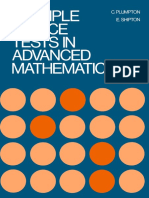 Multiple-choice Tests in Advanced Mathematics