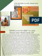 Terpercaya!! Wa 0858-7161-4243, Vitamin Untuk Minda Kanak Osb