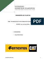 Ingenieria de Plantas Trabajo Final Jorge Alatrista Rojas