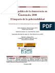 VIII Estudio de Cultura Democrática de los guatemaltecos