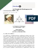 Michel Vâlsan Le Triangle de l'Androgyne Et Le Monosyllabe « Om » IV.html