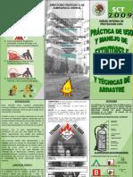 TRIPTICO-Practicas de Uso y Manejo de Extintores e Hidrantes y Tecnicas de Arrastre 2009.ppt