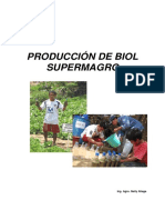 Producción de Biol Supermagro