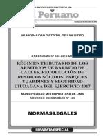 Arbitrios-2017-Ord.-N°-440-2016-2 MUNICIPALIDAD DISTRITAL DE SAN ISIDRO
