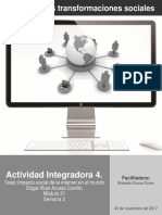 Actividad Integradora Internet y Las Transformaciones Sociales M21S2AI4