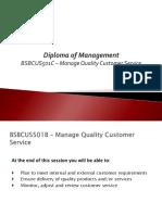 Manage quality customer service slides