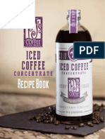 PJs Coffee Iced Coffee Concentrate Recipe Booklet