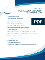 TEMARIO-Valorizacion y Liquidacion de Obras