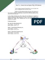 How to - Create Hub and Spoke IPSec VPN Network