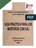 GUIA PRACTICA DE MORTEROS CON CAL