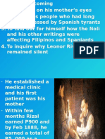 Rizal's Homecoming
