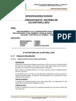 Especificaciones Tecnicas J. JIMENEZ - ALCANTARILLADOok