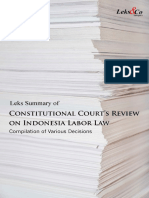 Constitutional Courts Review on Indonesian Labor Law