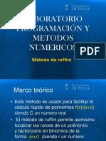Laboratorio2-Metodo de Ruffini