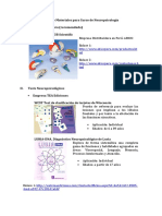 Lista de Materiales Para Curso de Neuropsicología