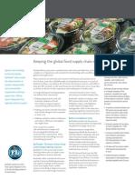 Sheet Industry Food
