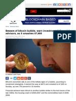 Beware of Bitcoin