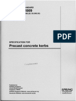 SS 214 2009 Specification for Precast Concrete Kerbs
